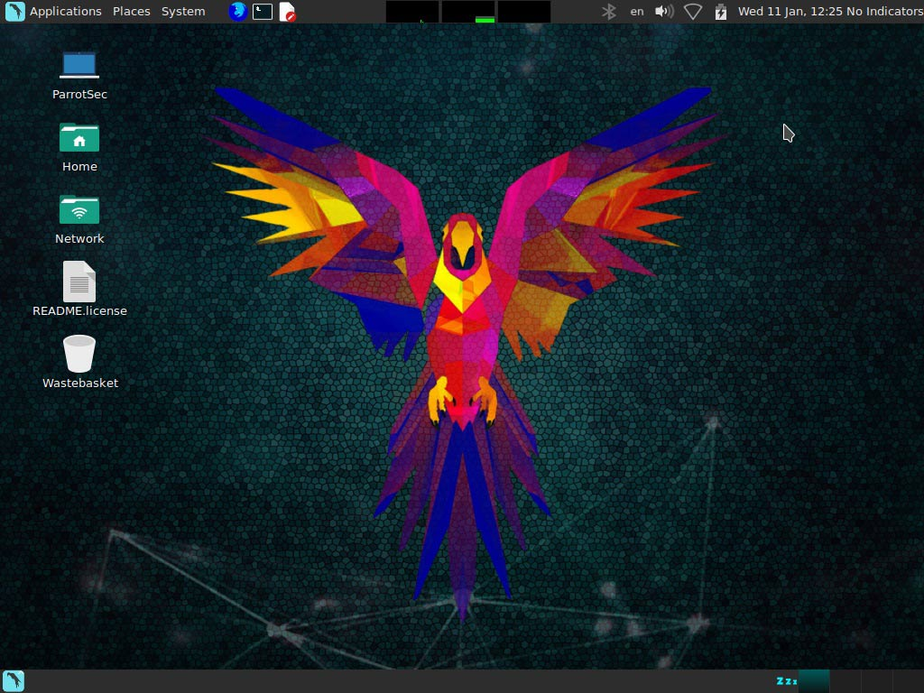 ParrotOS Desktop - Kali vs Parrot - Edureka